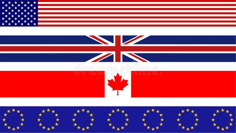 Bandiere della bandierina royalty illustrazione gratis