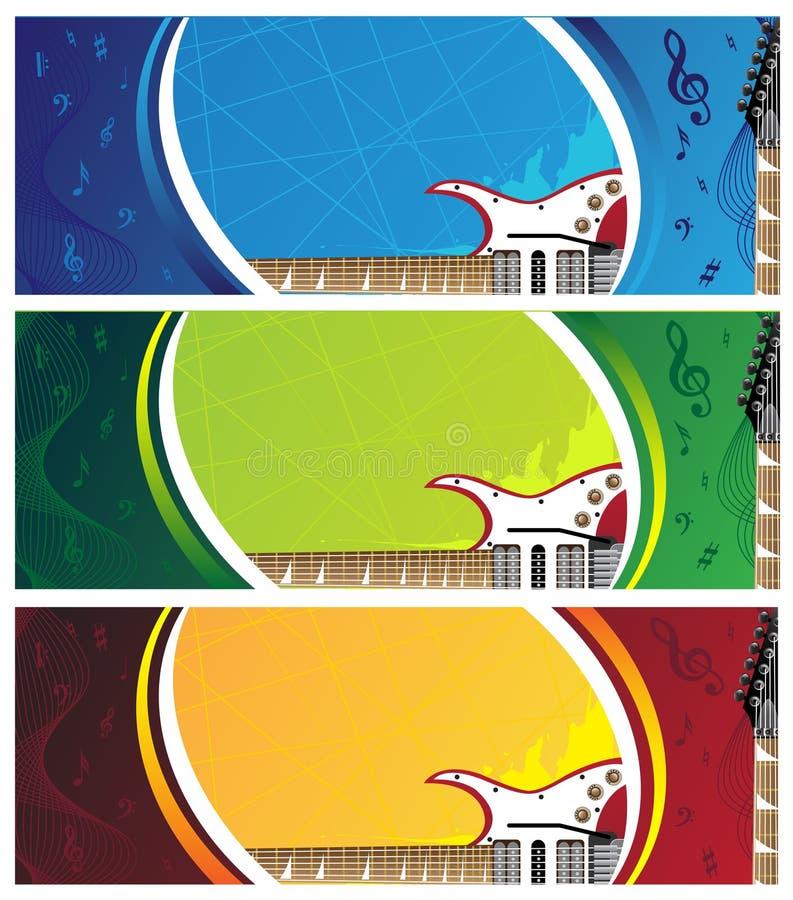 Download Bandiere della chitarra illustrazione vettoriale. Illustrazione di concerto - 7302989
