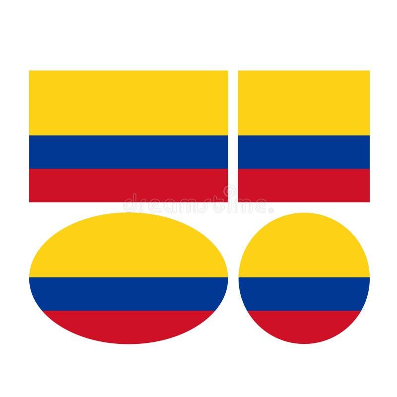 Bandiere della Colombia - Repubblica di Colombia illustrazione vettoriale