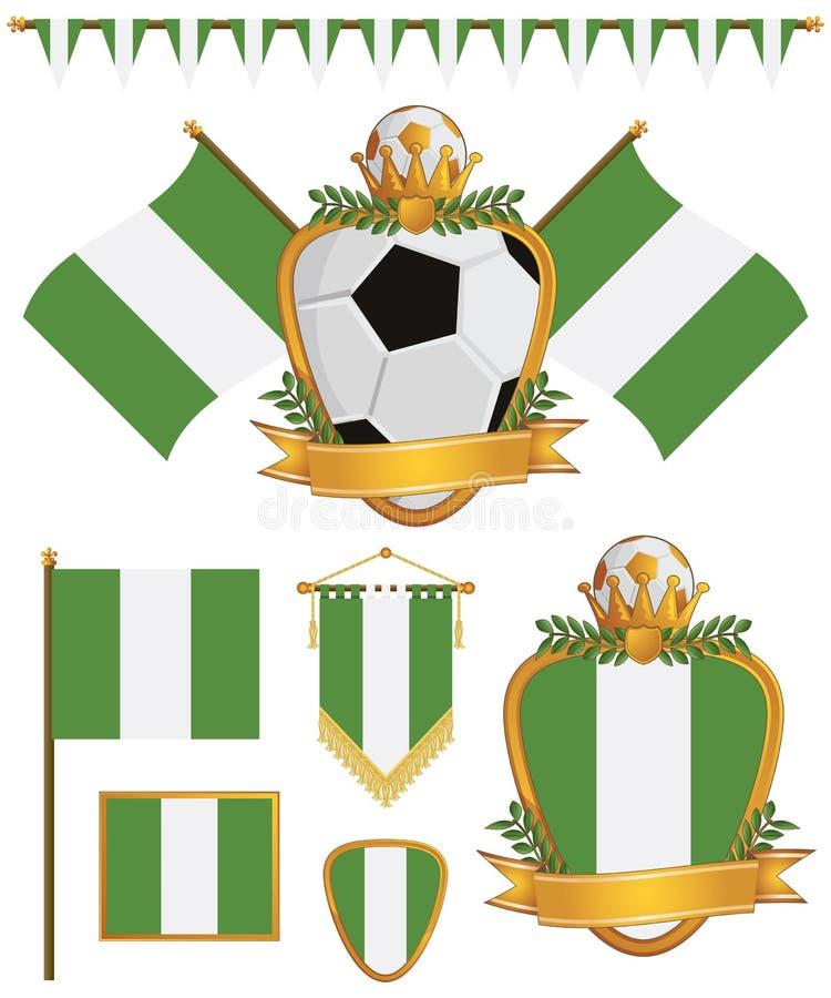 Bandiere della Nigeria royalty illustrazione gratis