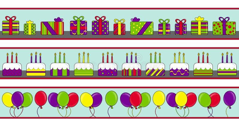 Bandiere di buon compleanno illustrazione di stock