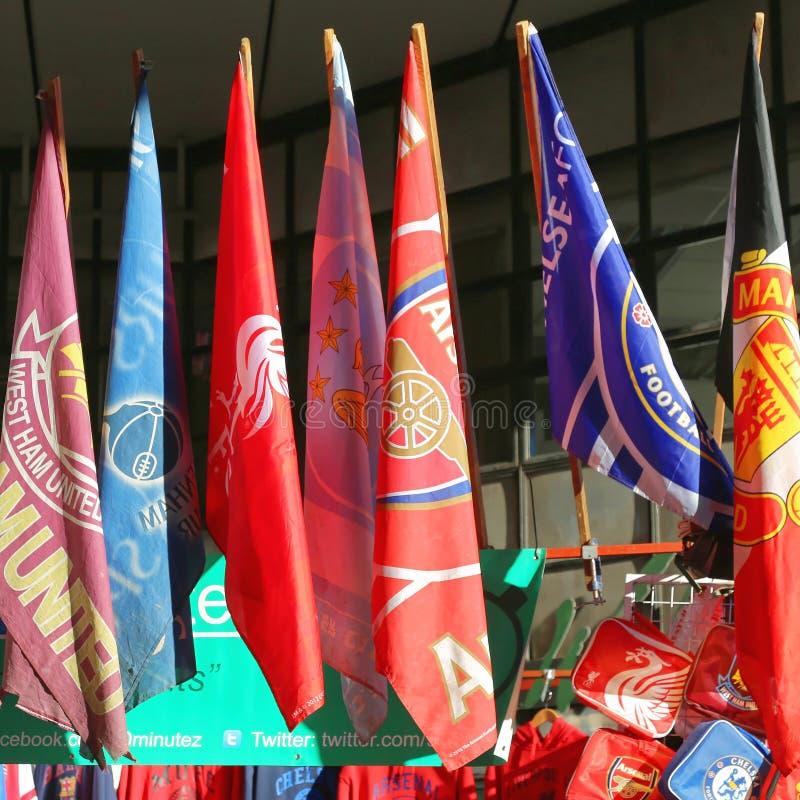 Bandiere di calcio immagine stock libera da diritti