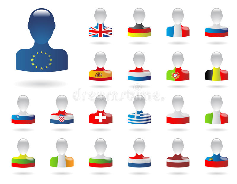 Bandiere di Europa royalty illustrazione gratis