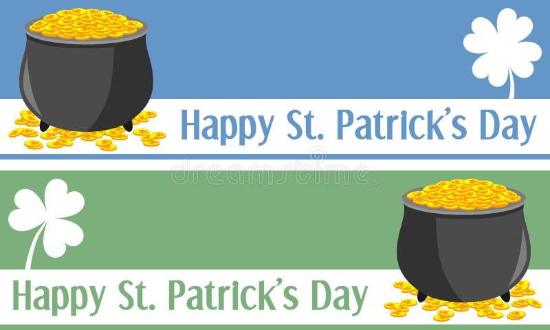 Bandiere di giorno della st Patrick [1] royalty illustrazione gratis