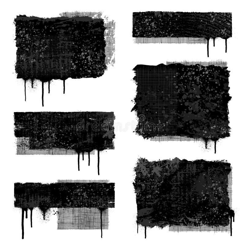 Bandiere di Grunge royalty illustrazione gratis