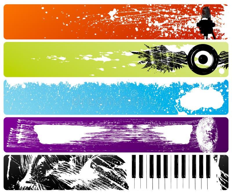 Bandiere di Grunge illustrazione di stock