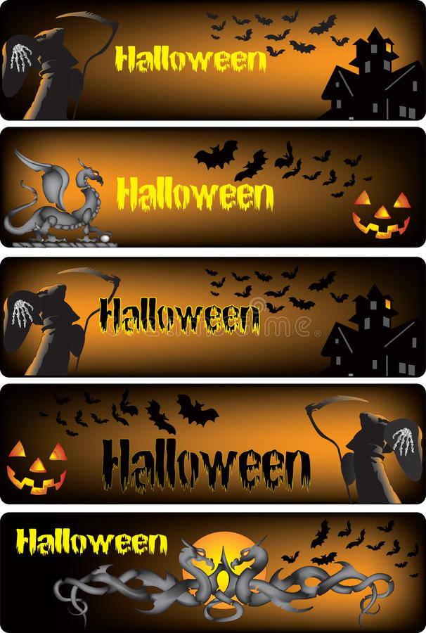 Bandiere di Halloween royalty illustrazione gratis