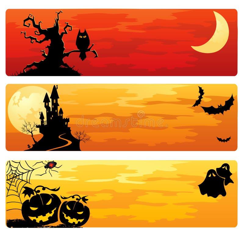 Bandiere di Halloween illustrazione di stock