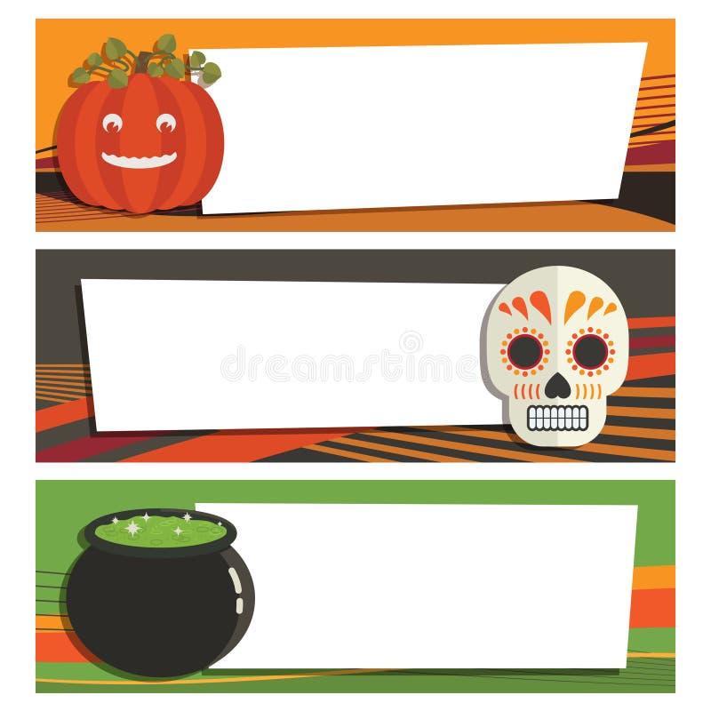 Bandiere di Halloween royalty illustrazione gratis
