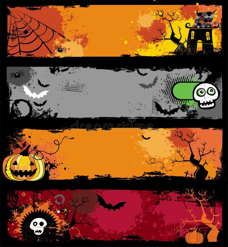 Bandiere di Halloween illustrazione vettoriale