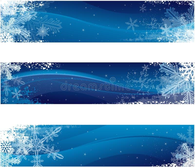 Bandiere di inverno illustrazione di stock