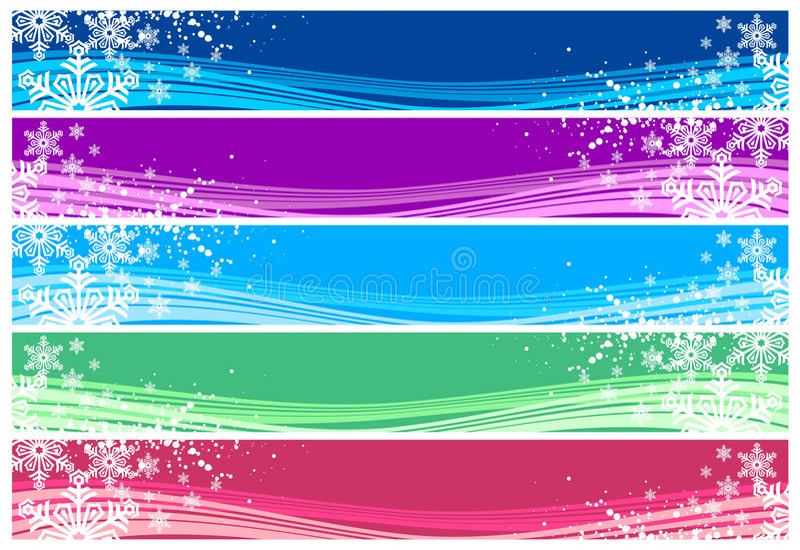 Bandiere di natale per WWW royalty illustrazione gratis