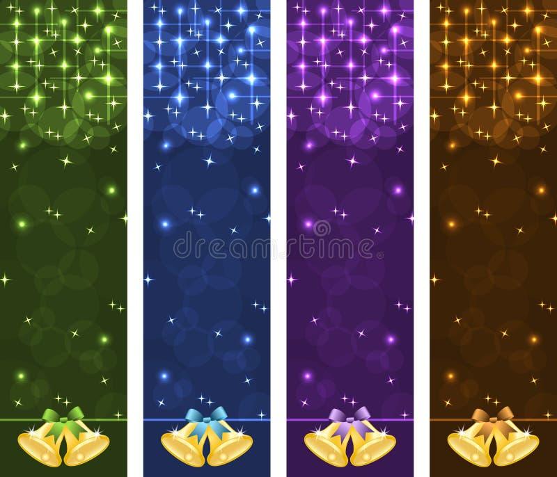 Bandiere di natale verticali royalty illustrazione gratis