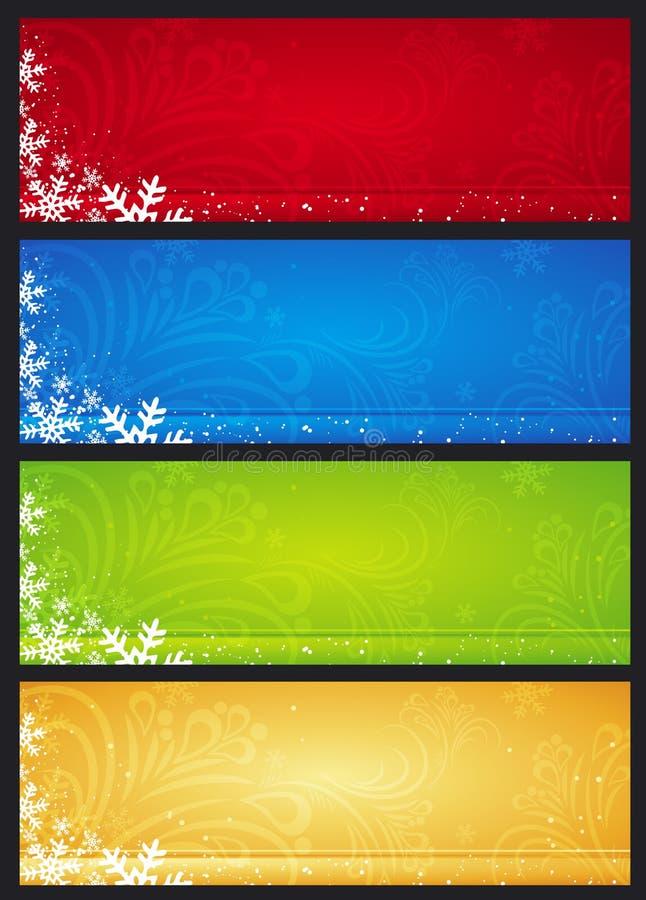 Bandiere di natale, vettore royalty illustrazione gratis