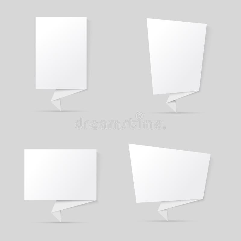 Bandiere di Origami royalty illustrazione gratis