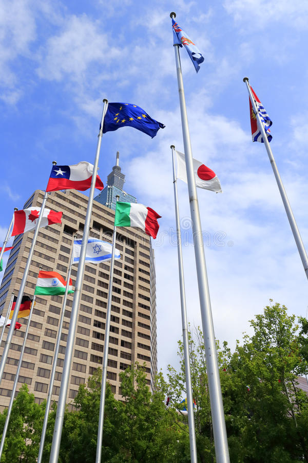 Bandiere di paesi fotografie stock libere da diritti