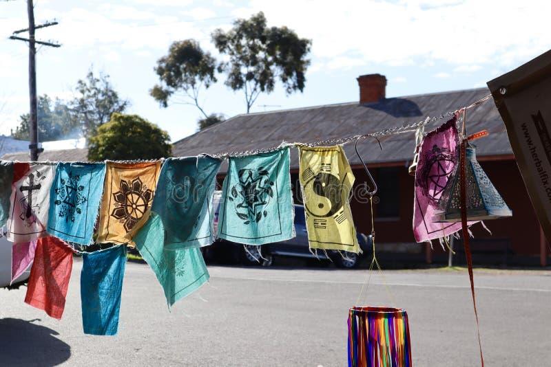 Bandiere di speranza e di preghiera fotografia stock libera da diritti