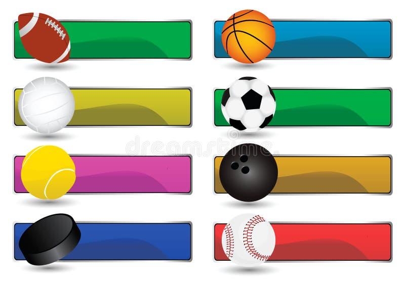 Bandiere di sport illustrazione di stock
