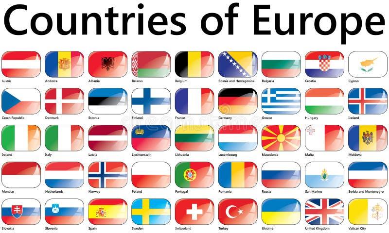 Bandiere di Unione Europea illustrazione di stock