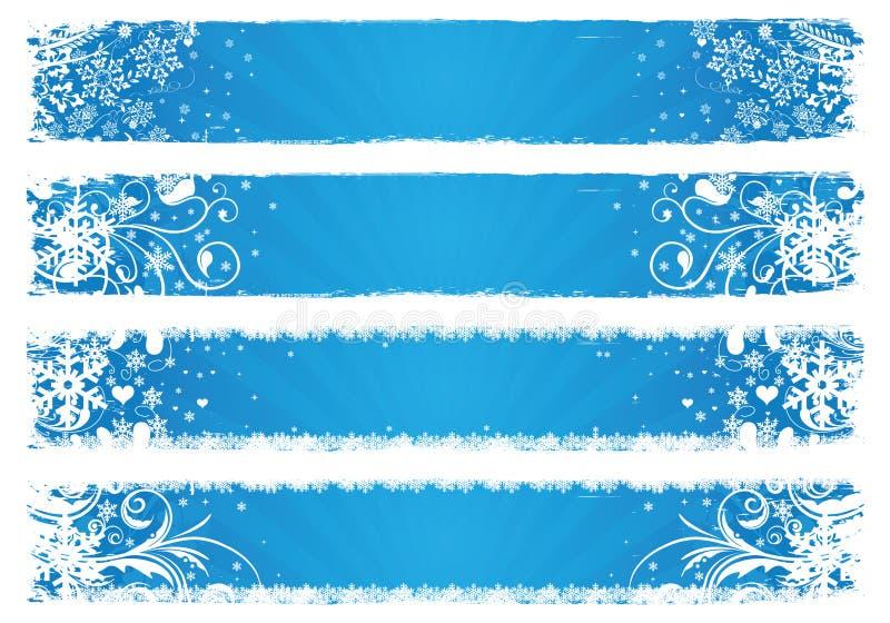 Bandiere di vettore per l'inverno illustrazione di stock