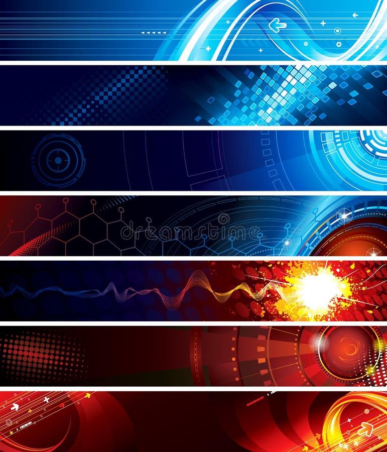 Bandiere di Web illustrazione vettoriale