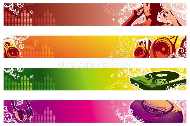 Bandiere di Web di musica royalty illustrazione gratis