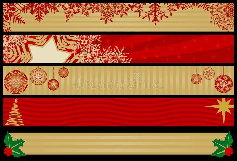 Bandiere di Web di natale royalty illustrazione gratis