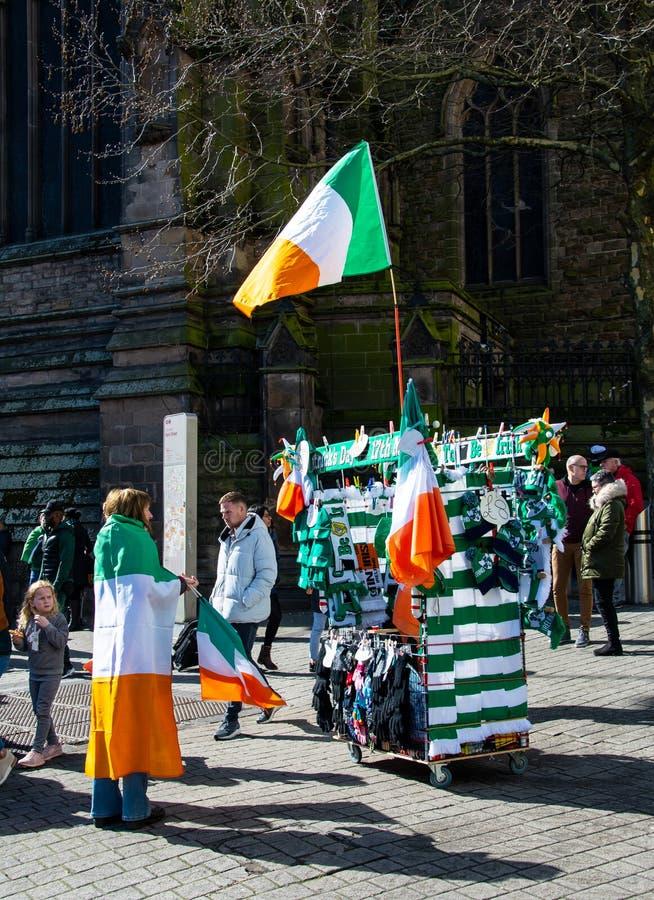 Bandiere e sciarpe dell'Irlanda immagine stock libera da diritti