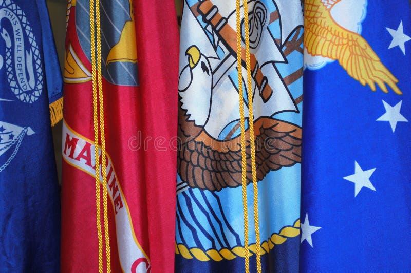 Bandiere militari immagine stock libera da diritti