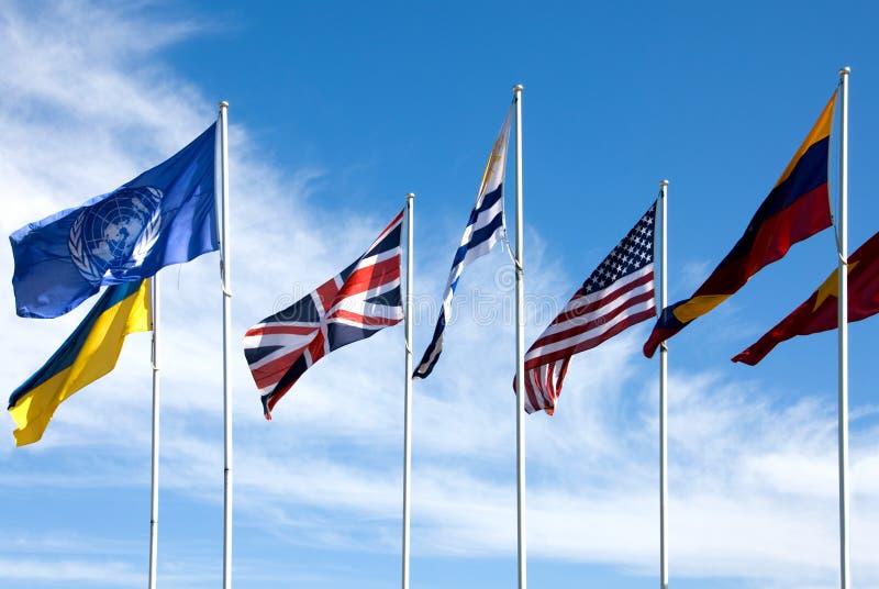 Bandiere nazionali immagine stock