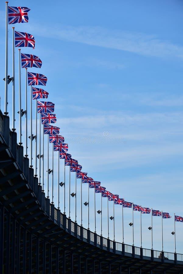 Bandiere nazionali britanniche fotografia stock libera da diritti