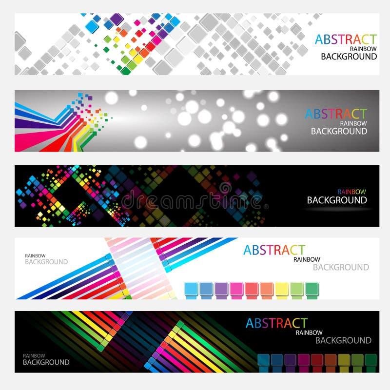 Bandiere per il Web (vettore collection3) illustrazione di stock