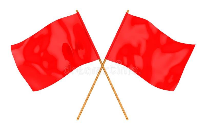 Bandiere rosse illustrazione vettoriale