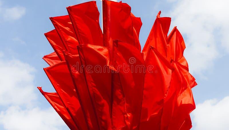 Bandiere rosse fotografia stock libera da diritti