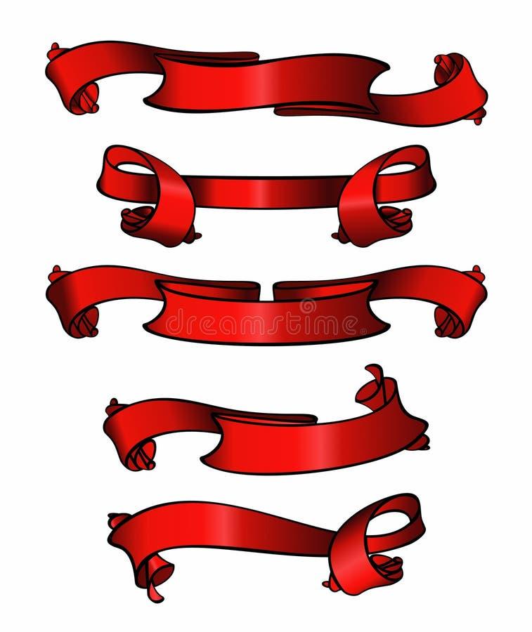 Bandiere rosse illustrazione di stock