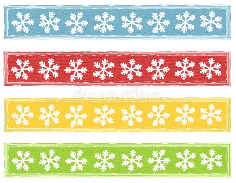 Bandiere rustiche di marchi del fiocco di neve royalty illustrazione gratis