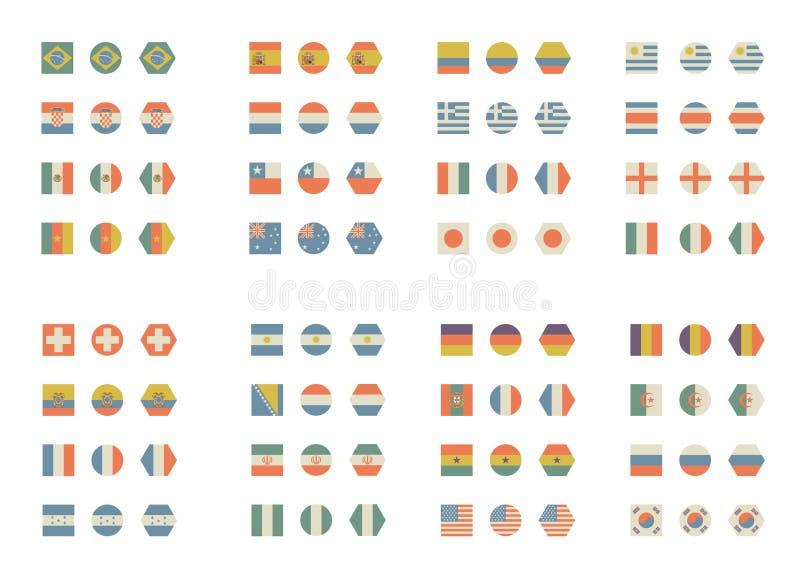 Bandiere semplici e d'annata illustrazione vettoriale