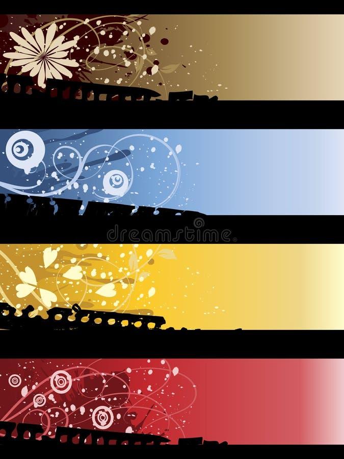 Bandiere separate illustrazione di stock
