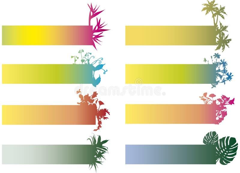 Bandiere variopinte con i fiori illustrazione vettoriale