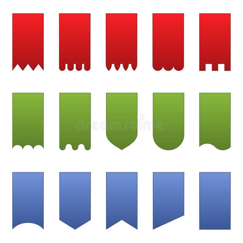 Bandiere verticali royalty illustrazione gratis