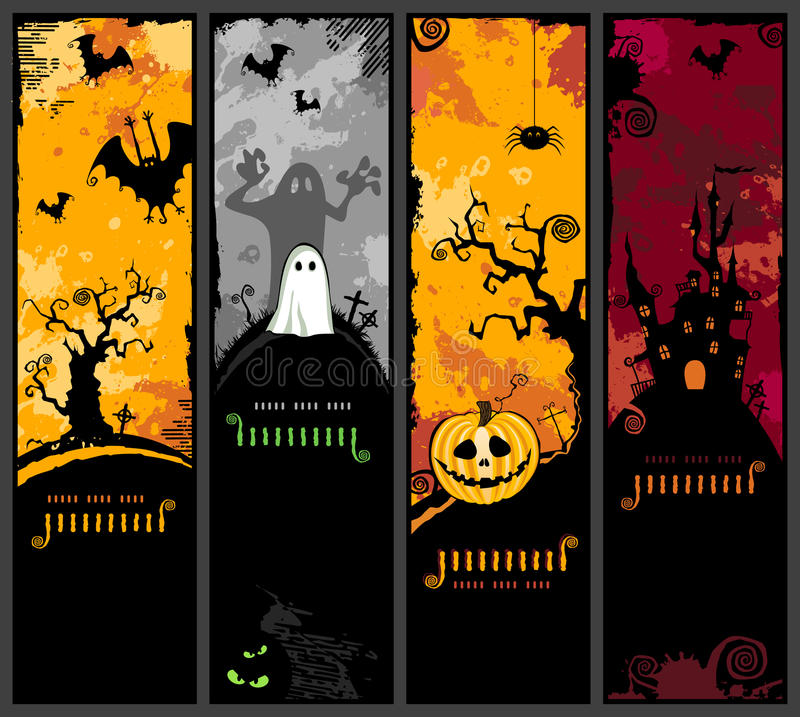Bandiere verticali di Halloween royalty illustrazione gratis