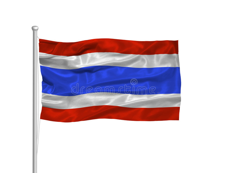 Bandierina 2 della Tailandia illustrazione vettoriale
