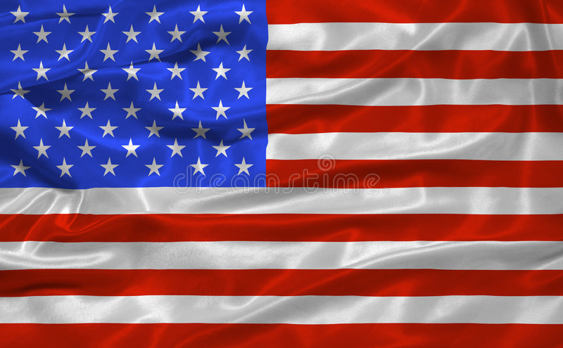 Bandierina 3 degli Stati Uniti illustrazione vettoriale