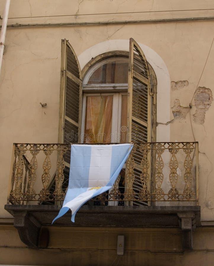 Bandierina argentina immagini stock libere da diritti