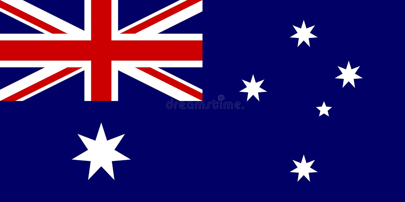Bandierina australiana illustrazione di stock