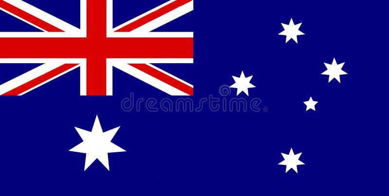 Bandierina australiana royalty illustrazione gratis