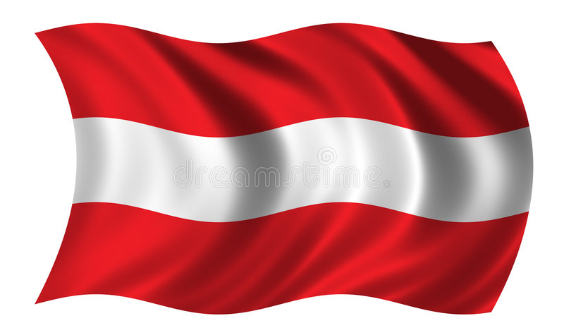 Download Bandierina austriaca illustrazione di stock. Illustrazione di fiero - 215621