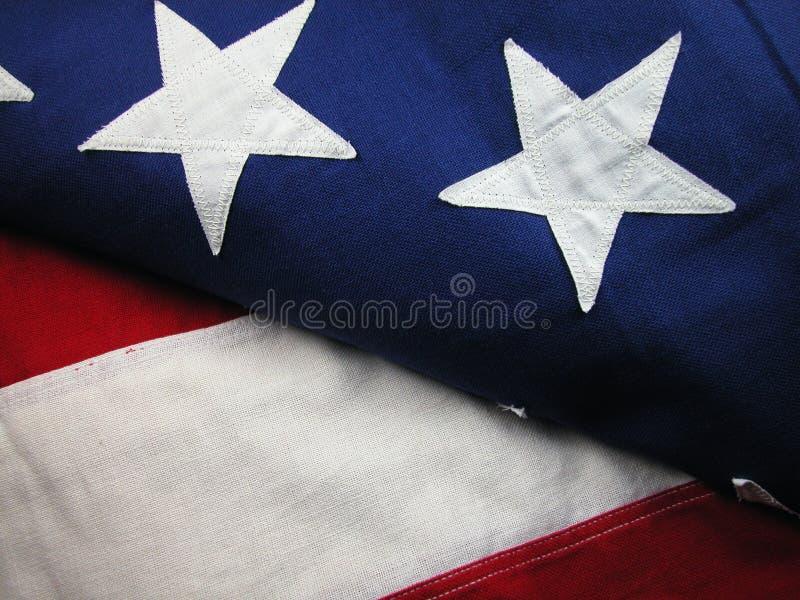 Bandierina-Bande e stelle degli S.U.A. immagine stock libera da diritti
