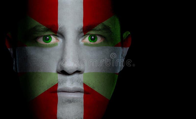 Bandierina Basque - fronte maschio fotografia stock