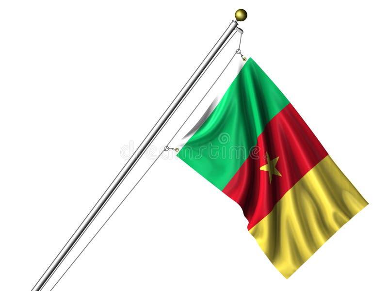 Bandierina camerunese isolata illustrazione di stock
